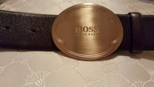 Hugo Boss Gürtel mit runder Schnalle in Gold, 85cm