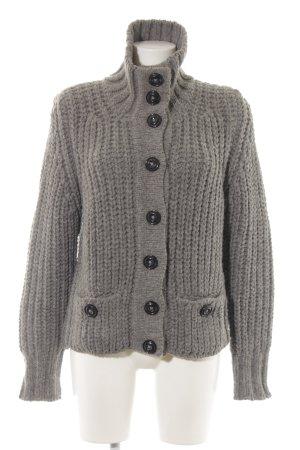 Hugo Boss Crochet Cardigan light grey casual look