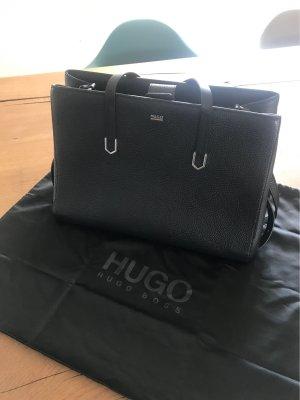 HUGO Hugo Boss Carry Bag black-beige leather