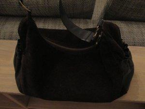 Hugo Boss Handtasche aus dunkelbraunem Wildleder