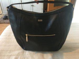 Hugo Boss Handtasche aus Leder in Schwarz - Mirina Hobo Bag