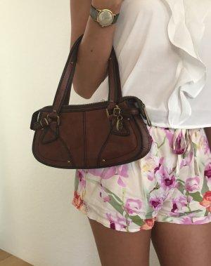 Hugo Boss Handtasche in braunem Leder