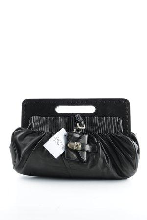 Hugo Boss Handtasche schwarz-goldfarben Casual-Look