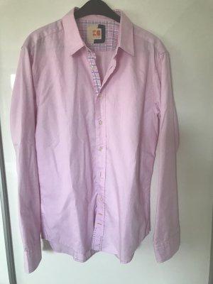 Hugo Boss Camisa de manga larga rosa Algodón