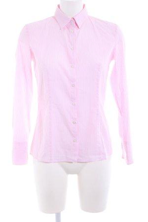 Hugo Boss Hemd-Bluse pink-weiß Streifenmuster Business-Look