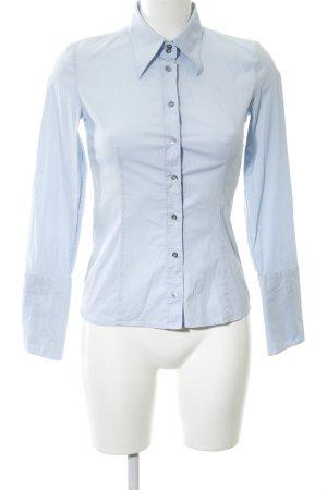 Hugo Boss Hemd-Bluse blau Business-Look