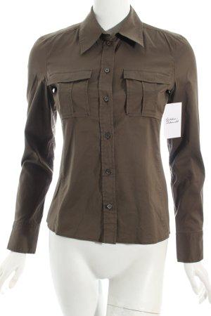 Hugo Boss Hemd-Bluse khaki Business-Look