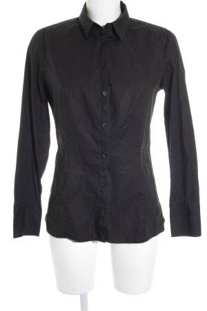 Hugo Boss Hemd-Bluse schwarz Casual-Look