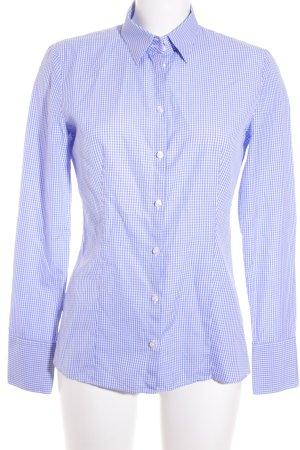 Hugo Boss Hemd-Bluse weiß-blau Karomuster Business-Look