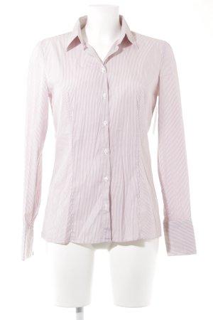 Hugo Boss Hemd-Bluse weiß-rostrot Streifenmuster Business-Look