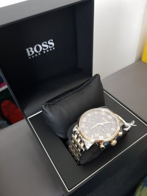 Boss Hugo Boss Watch With Metal Strap light grey stainless steel
