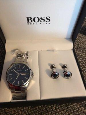 Hugo Boss Braccialetto sottile blu-argento Acciaio pregiato