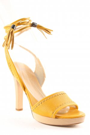 Hugo Boss High Heel Sandal dark yellow classic style