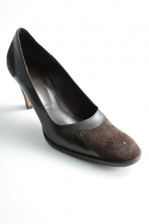 Hugo Boss High Heels dunkelbraun-braun Business-Look