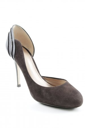 Hugo Boss High Heels dunkelbraun Casual-Look
