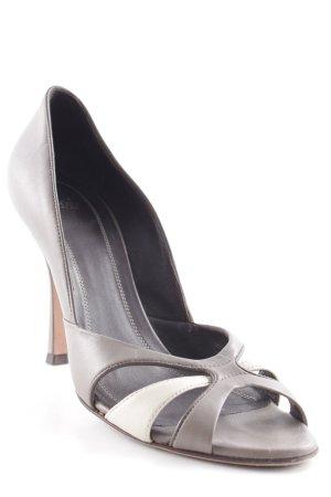 Hugo Boss High Heels graubraun-creme Elegant