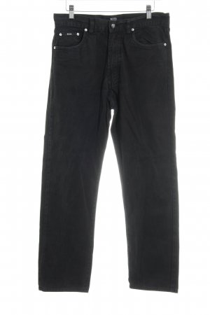 Hugo Boss High Waist Jeans schwarz Boyfriend-Look