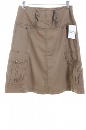 Hugo Boss High Waist Rock braun Safari-Look