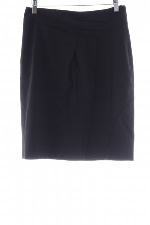 Hugo Boss High Waist Rock schwarz Business-Look