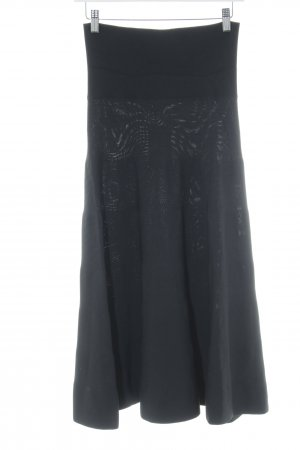 Hugo Boss High Waist Rock schwarz Casual-Look