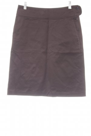 Hugo Boss High Waist Rock schwarzbraun Business-Look