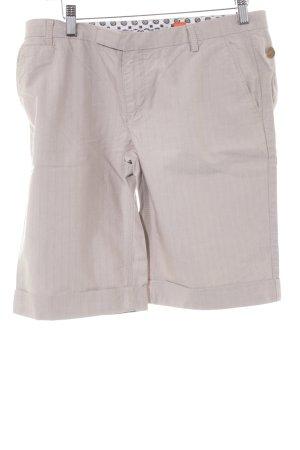 Hugo Boss High-Waist-Shorts beige-creme Casual-Look
