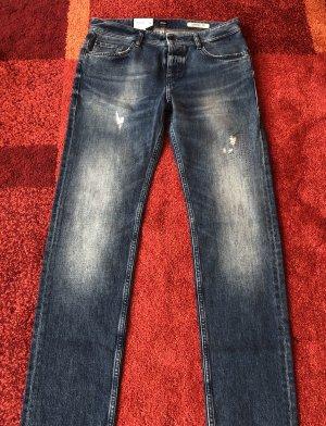 Hugo Boss Stretch jeans donkerblauw-blauw