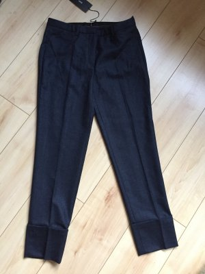Hugo Boss Woolen Trousers dark blue new wool