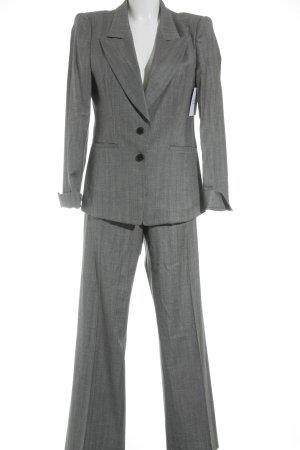 Hugo Boss Tailleur pantalone grigio-grigio chiaro motivo a righe