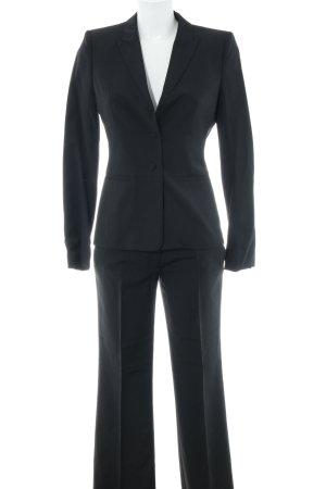 Hugo Boss Traje de pantalón negro-gris oscuro raya diplomática