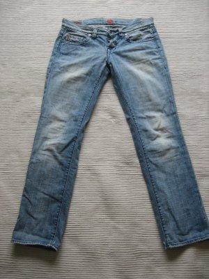 hugo boss jeans boyfriend gr. s 36 vintage hellblau