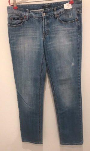 Hugo Boss Jeans met rechte pijpen staalblauw