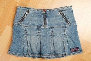 HUGO BOSS Jeans Rock Gr 38, Faltenrock, Minirock, Blogger, Style, Sommer