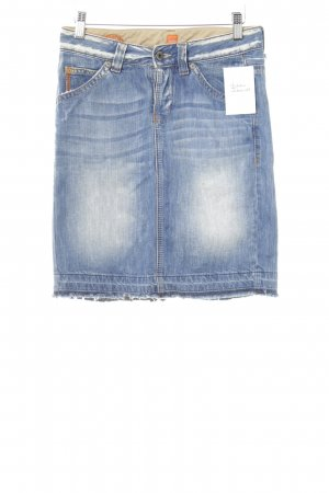 Hugo Boss Jeansrock blau Washed-Optik