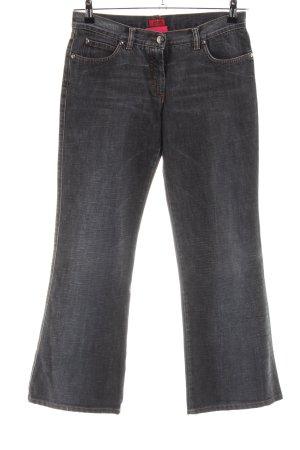 Hugo Boss Jeansschlaghose schwarz Casual-Look