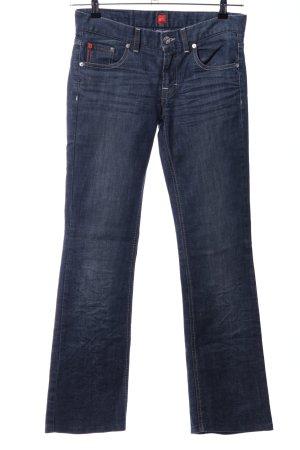 Hugo Boss Jeansschlaghose blau Casual-Look