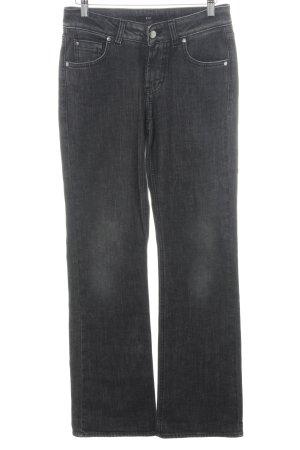 Hugo Boss Jeansschlaghose dunkelgrau meliert Vintage-Look