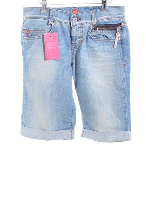 Hugo Boss Pantalón corto de tela vaquera azul look casual