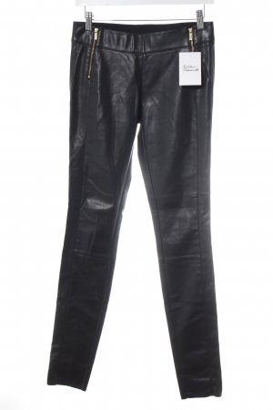 Hugo Boss Jeggings schwarz Biker-Look