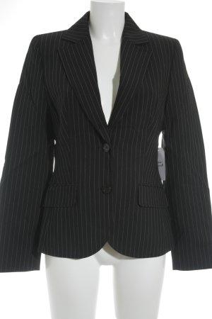 Hugo Boss Jerseyblazer schwarz-hellgrau Streifenmuster Business-Look