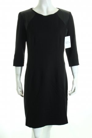 Hugo Boss Jerseykleid schwarz Materialmix-Look