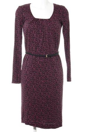 Hugo Boss Jerseykleid schwarz-purpur abstraktes Muster Casual-Look