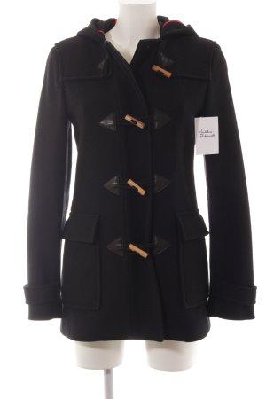 Hugo Boss Abrigo con capucha negro look casual