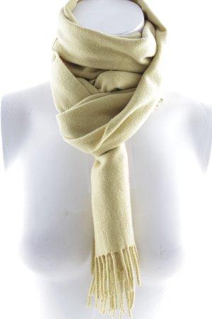 Hugo Boss Kaschmirschal blassgelb schlichter Stil