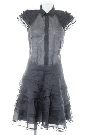 Hugo Boss Kostüm anthrazit Transparenz-Optik