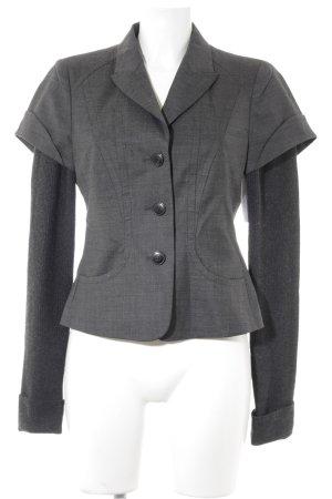 Hugo Boss Faux Leather Jacket dark grey-taupe flecked elegant