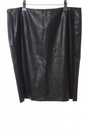 Hugo Boss Faux Leather Skirt black casual look