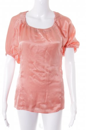 Hugo Boss Kurzarm-Bluse apricot Casual-Look
