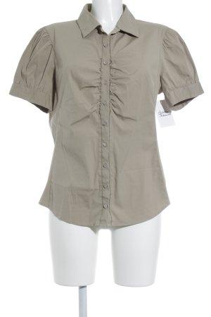 Hugo Boss Kurzarm-Bluse beige Casual-Look