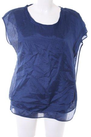 Hugo Boss Kurzarm-Bluse blau Elegant